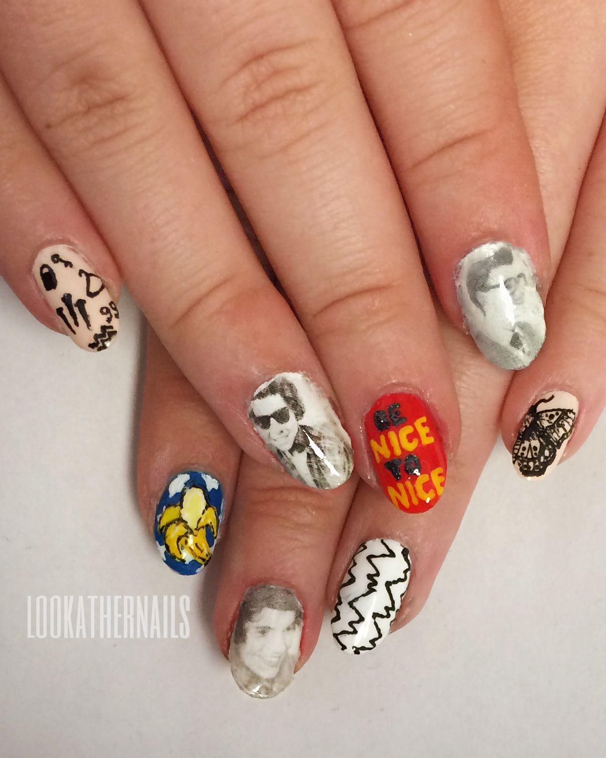Look At Her Nails Tattoo Paper Cute Acrylic Nails Nails