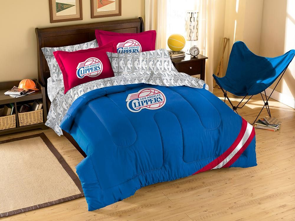Los Angeles Clippers Nba Bed In A Bag Contrast Series Full