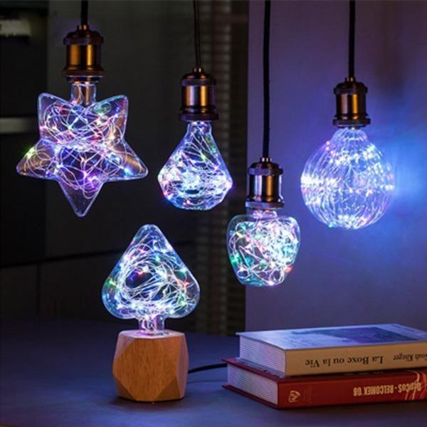 E27 3w Rgb Star Heart Diamond Pumpkin Apple Led Decorative Light Bulb For Christmas Party Ac85 265v Led Decorative Lights Decorative Light Bulbs Bulb