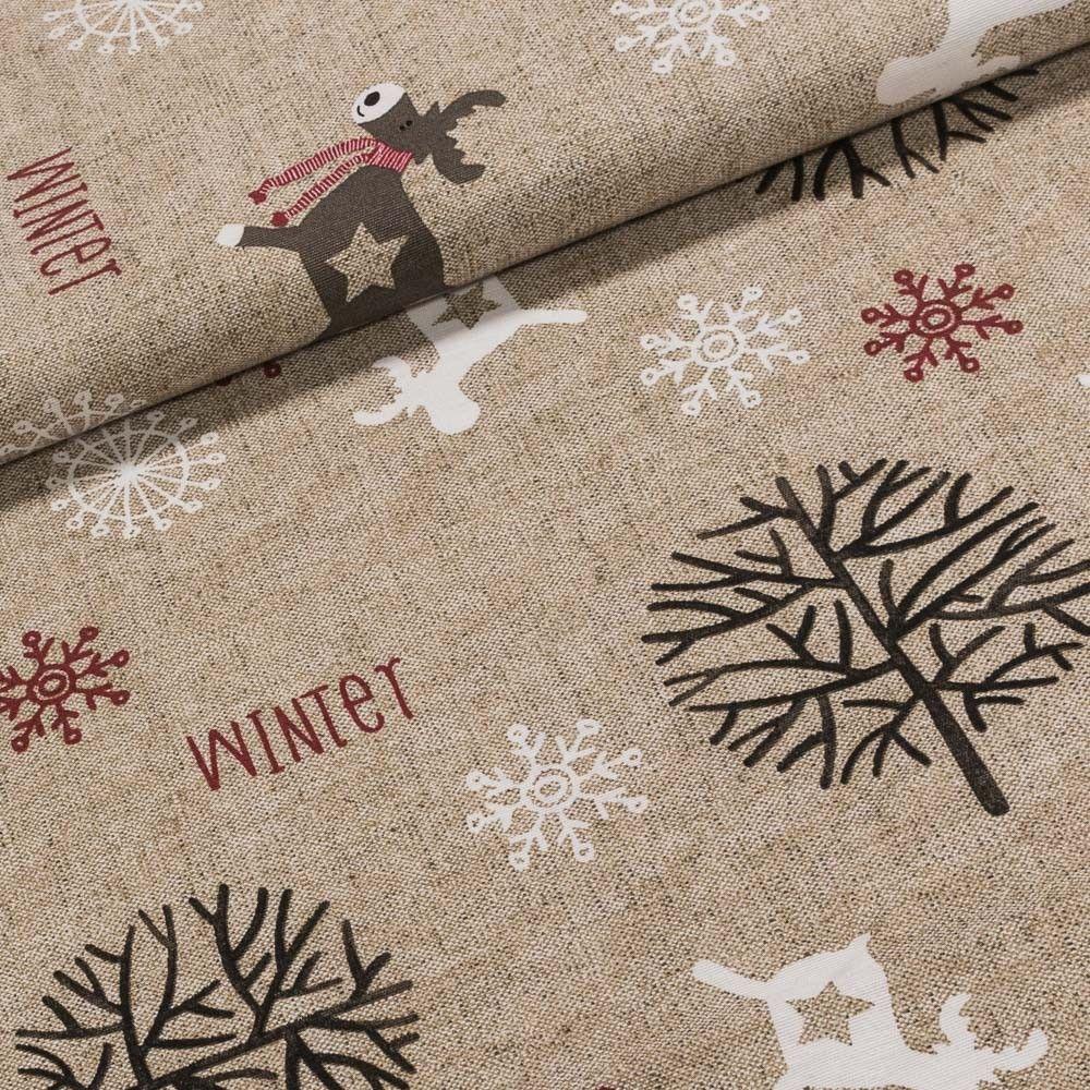 09e6512207b2 Směsové plátno vánoční FROZEN vánoční motivy na režné
