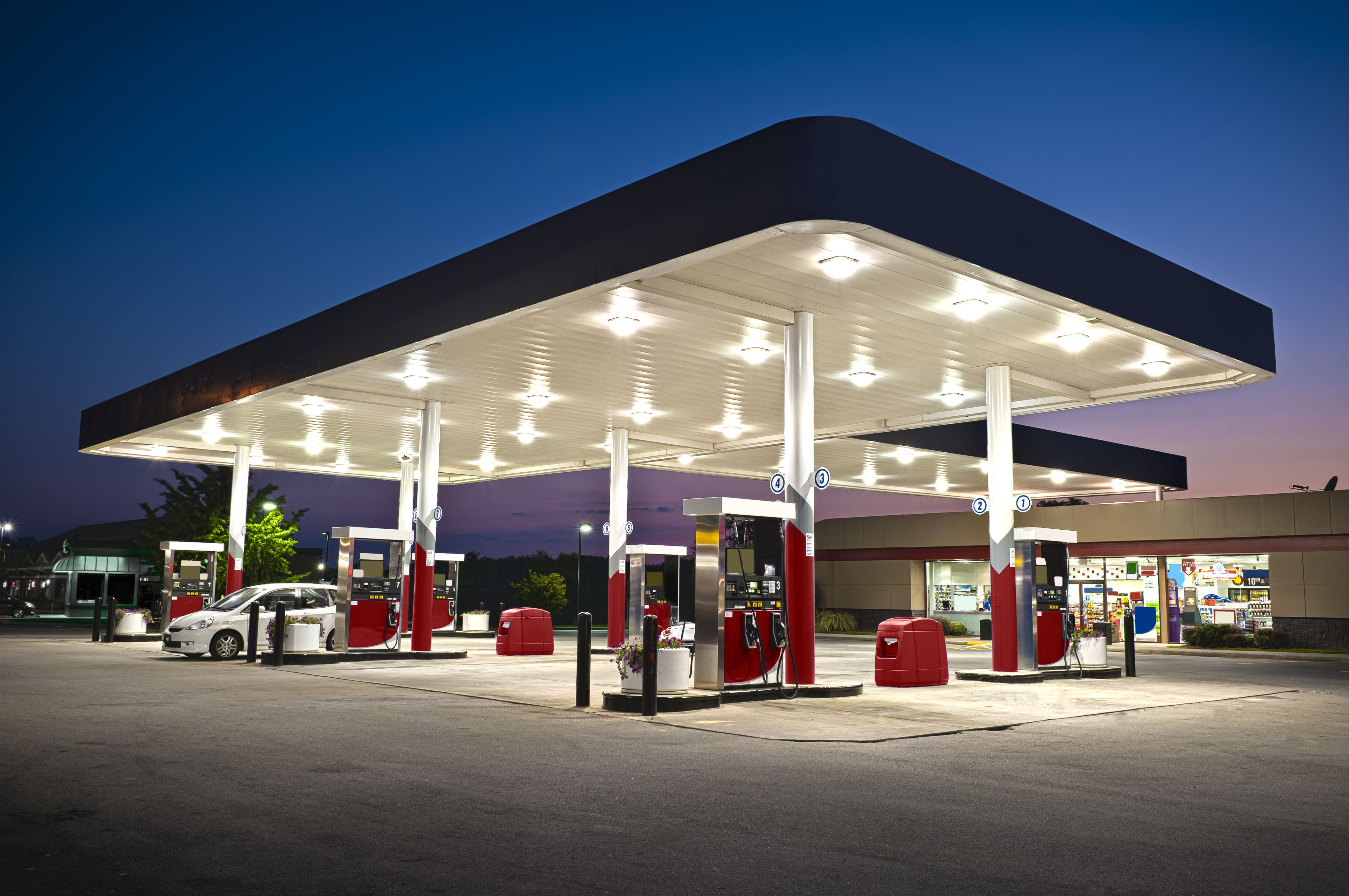 Commercial Lighting Represents One Of The Simplest Ways To Find Energy Savings For Gas Stations And