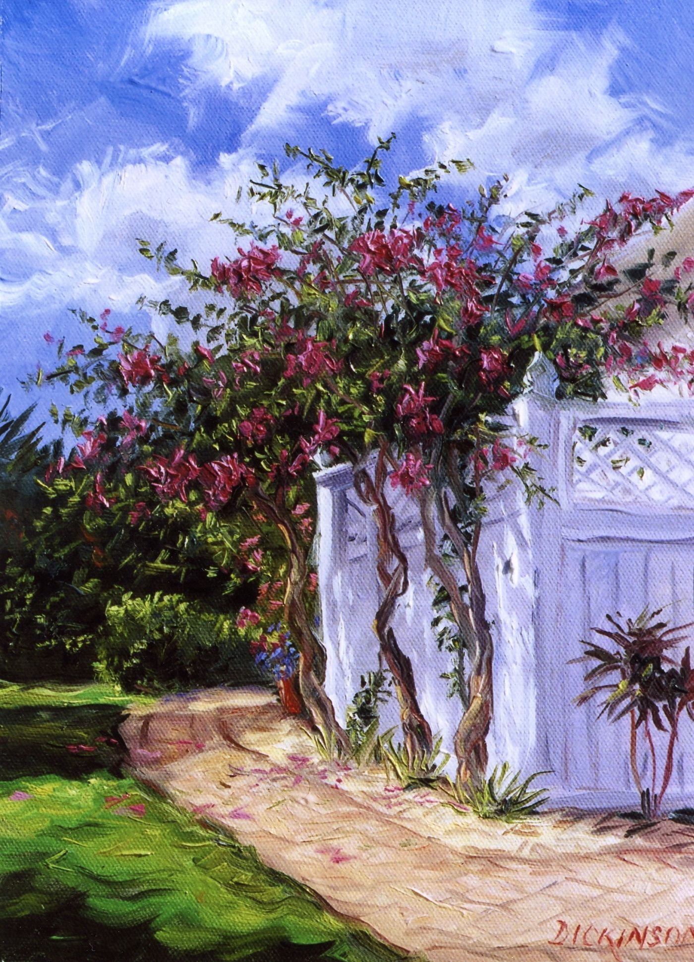New Smyrna Beach Flowers Oil Painting By Charles Inson Potted Flower Pots
