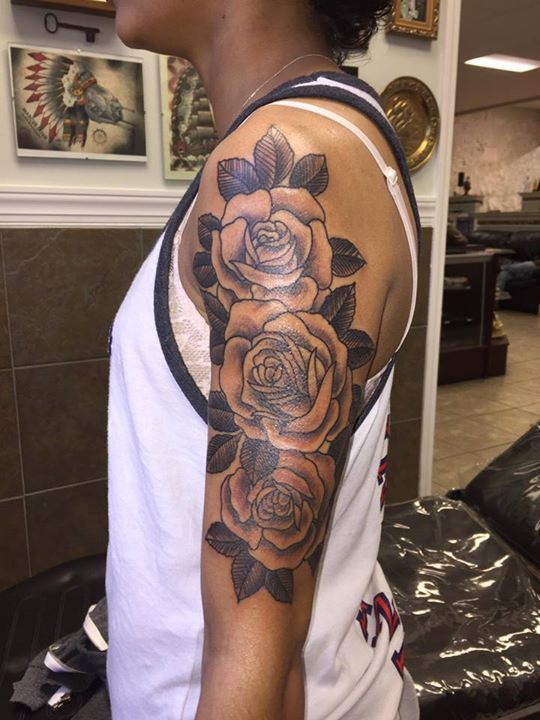 Roses Tattoo by Hassel from Rock n Roll Tattoo Raleigh NC - 20170407 ...