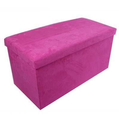 Toledo Pink Suede Storage Ottoman | Furniture | The Range | modern ...