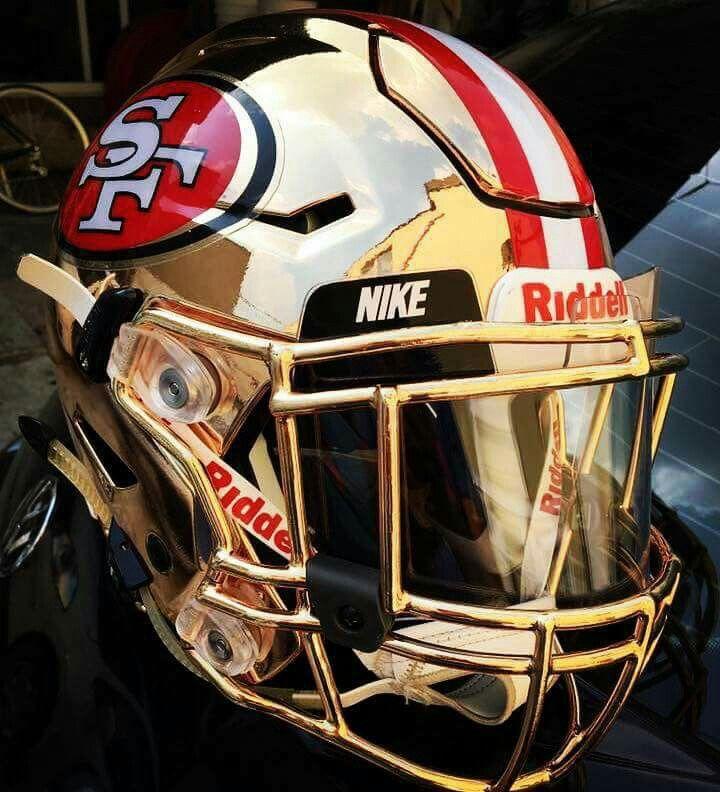 49ers Nfl Football Helmets Football Helmets Nfl Football