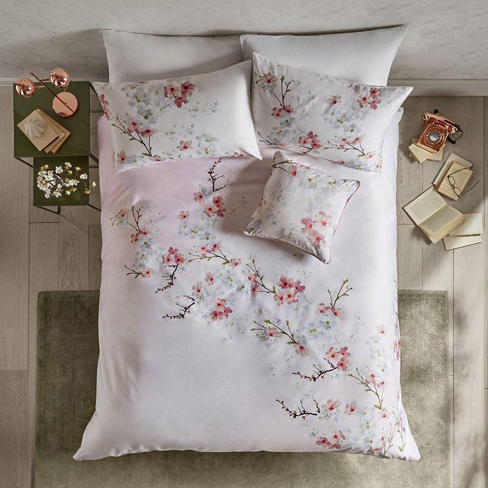 Ted Baker Oriental Blossom Duvet Cover Double Bed Linen