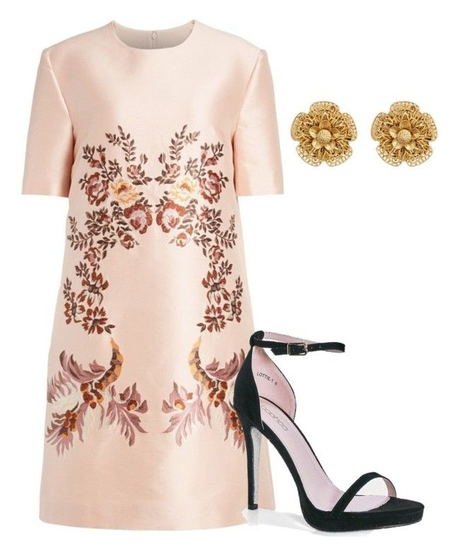 """""""oval party"""" by nikita-tuteja on Polyvore featuring STELLA McCARTNEY, Boohoo and Miriam Haskell"""