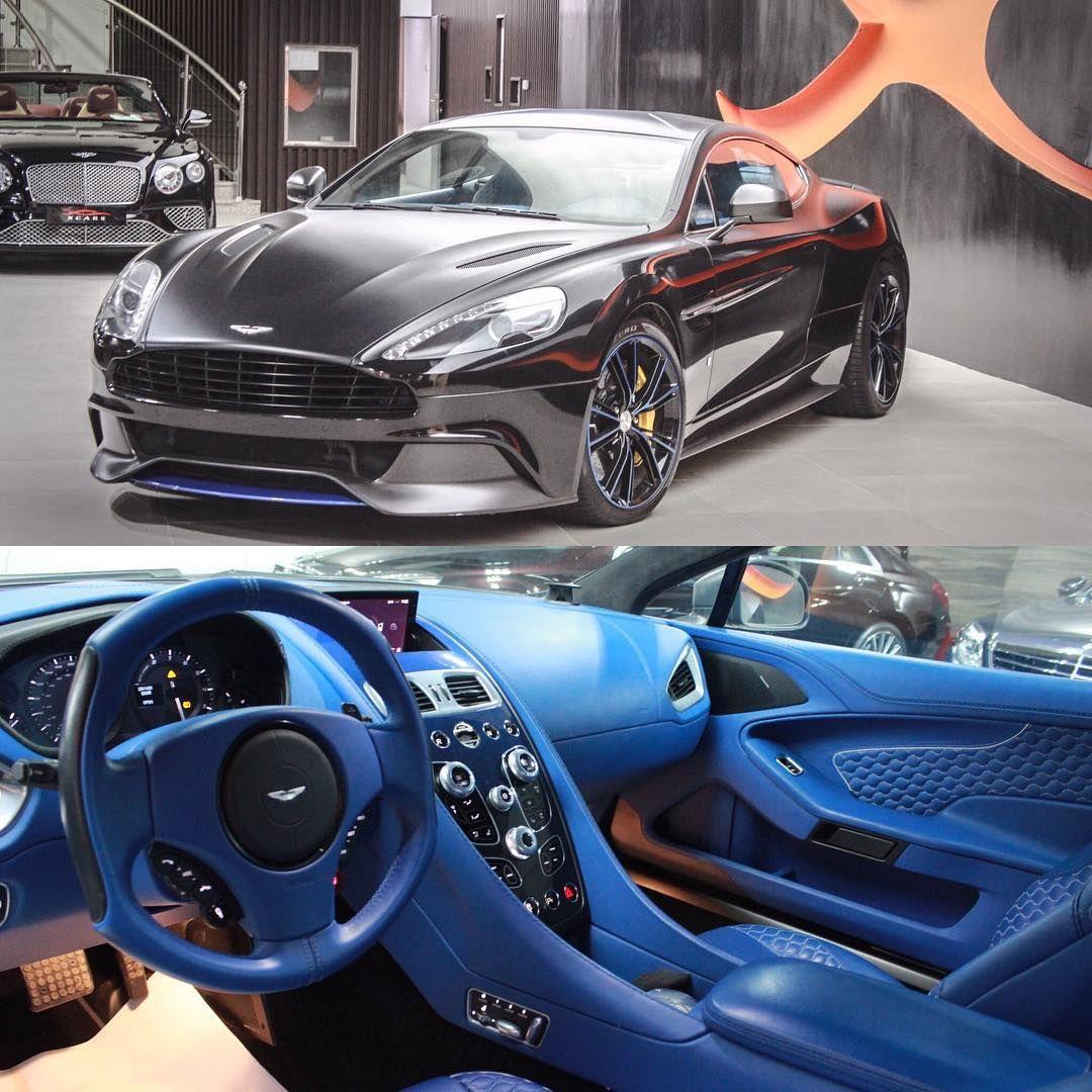 Car Aston Martin Vanquish Year 2014 Grey Black Blue Interior