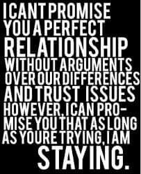 I cant promise you a perfect relationship but...