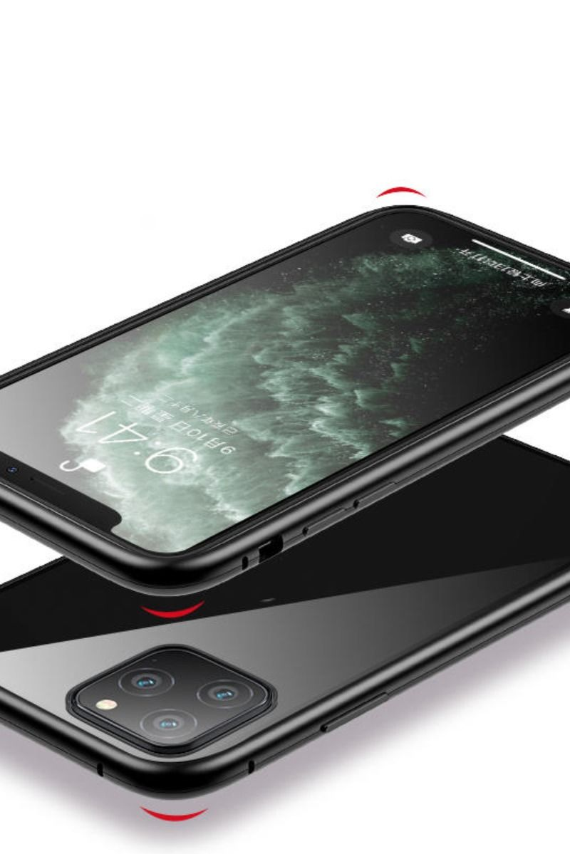 Bakeey Magnetic Adsorption Metal Singel Side Tempered Glass Protective Case For Iphone 11 6 1 Inch Phone Accessories Iphone Protective Cases Iphone 11 Colors