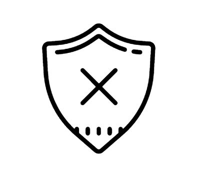Delete Shield Icon This page contains the vector icon, as well as variations of this icon in different visual styles, and related icons. All icons are in the flat vector style, however, differ by the line thickness, fill, and corner radius.