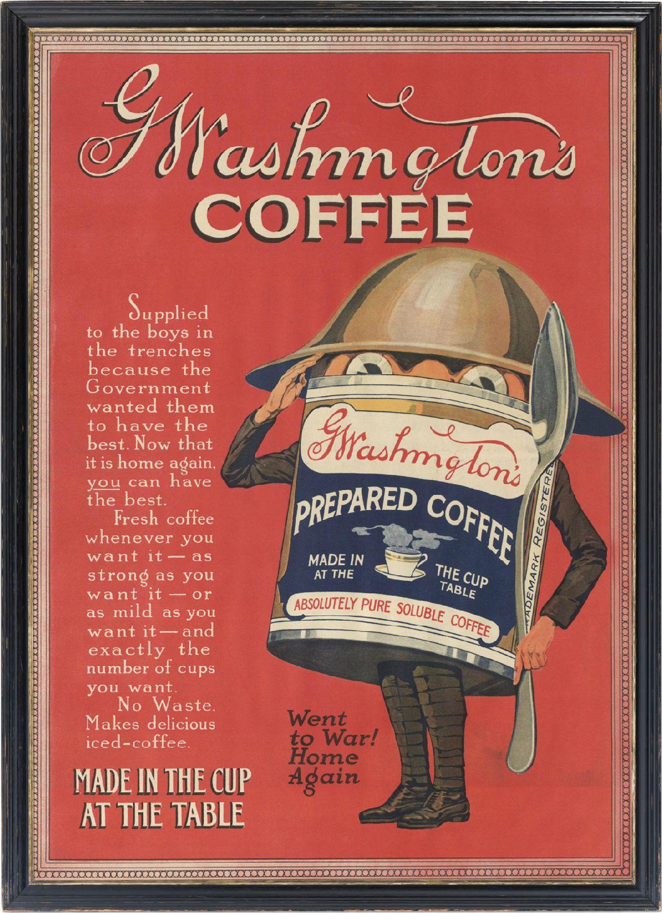 Washington S Coffee Coffee Advertising Coffee Poster Vintage Coffee