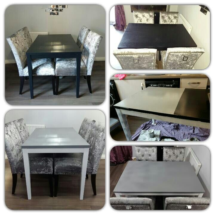 Dining Table Makeover Using Rustoleum Furniture Paint