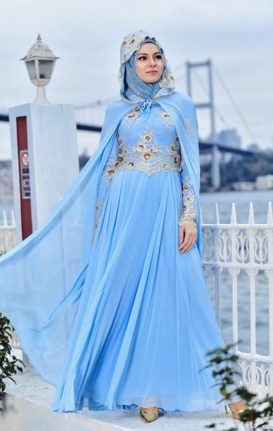 9a373c2d55697 Tesettür Nişanlık Modelleri 2019 - Tesettür Abiye Elbise Modelleri ...