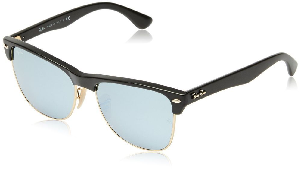 8908c5378cc ... promo code for ray ban clubmaster oversized demi shiny black frame  light green mirror silver ebay