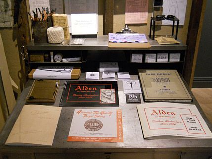 Vintage Alden lookbooks in J.Crew's Ludlow Shop, Tribeca.