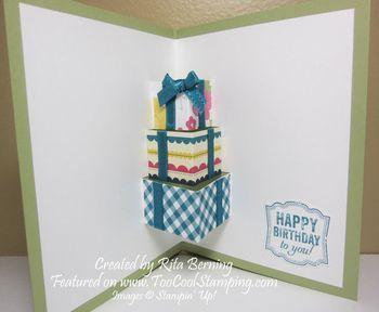 Cake pop up inside rita copy stampin up 3 pinterest cake cake pop up inside rita copy cool birthday cardscake bookmarktalkfo Gallery