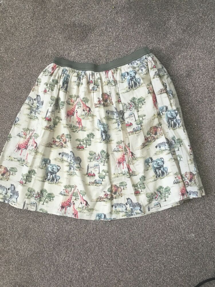 98591a3475 Advertisement; Cath Kidston Safari Animal Print Skirt Size S #fashion # clothing #shoes #accessories