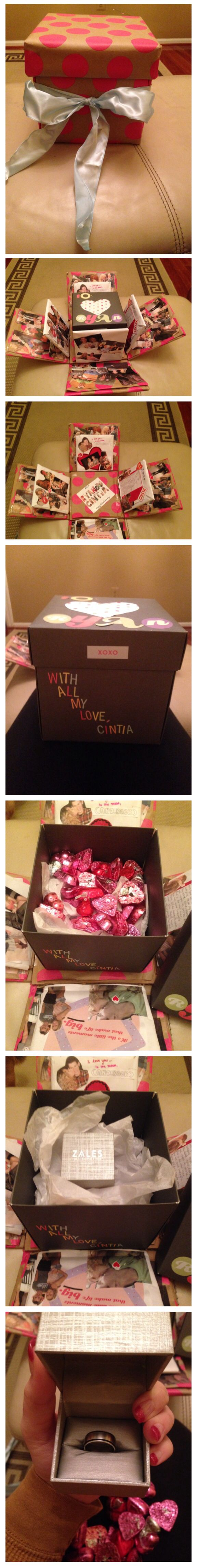 Explosion Box for my boyfriend for Valentine's Day | Cute gifts ...