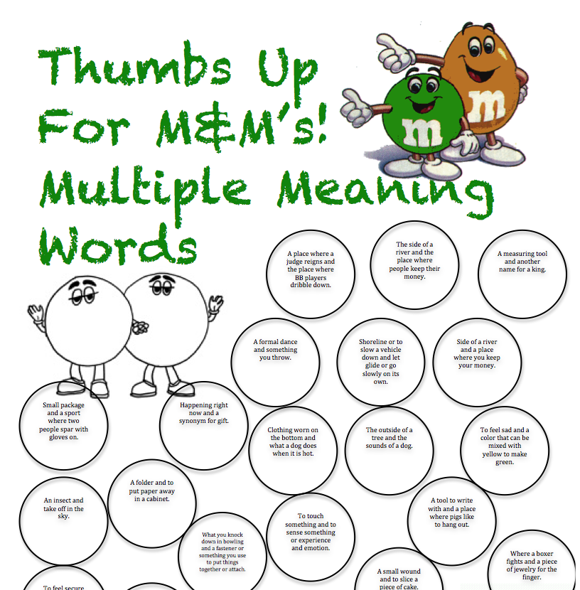 Printables Multiple Meaning Words Worksheets 1000 images about multiple meaning words on pinterest context clues activities and assessment