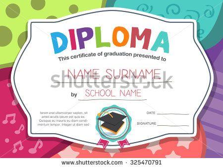 kindergarten Preschool Elementary school Kids Diploma certificate - fresh free printable sunday school promotion certificates