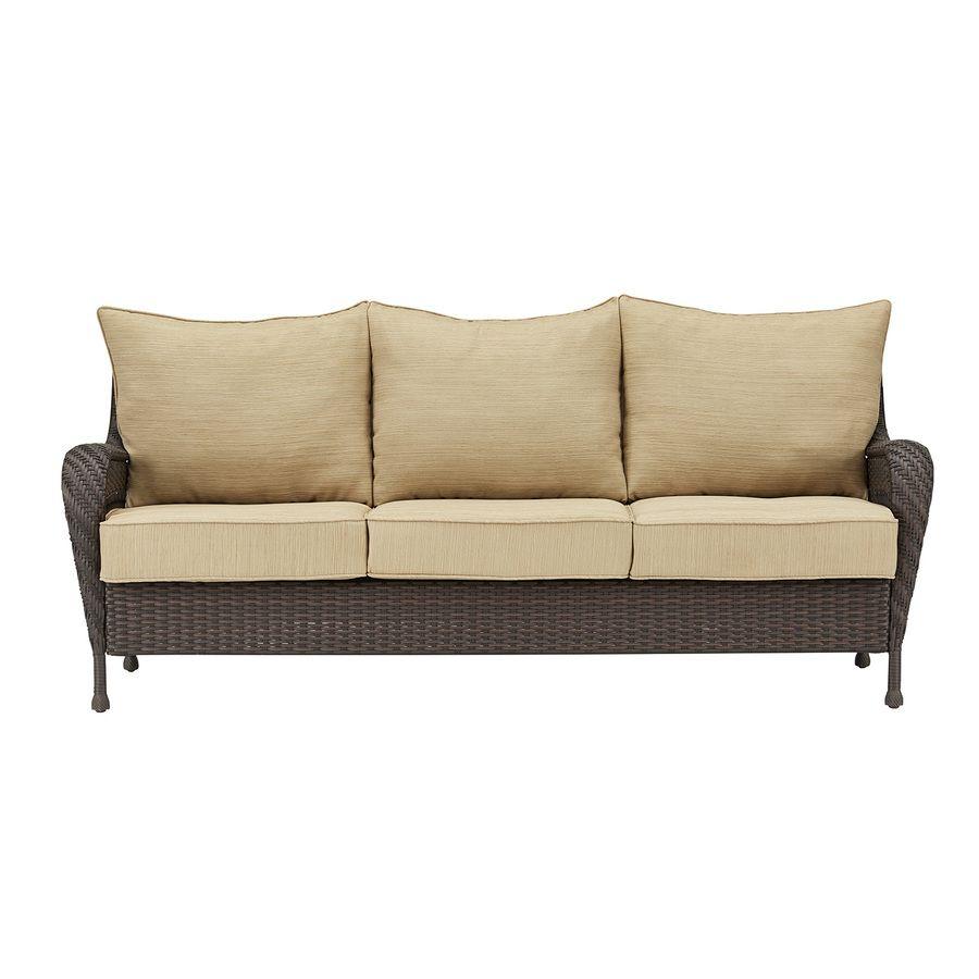 Shop Garden Treasures Glenlee Cushion Sofa At Lowes.com