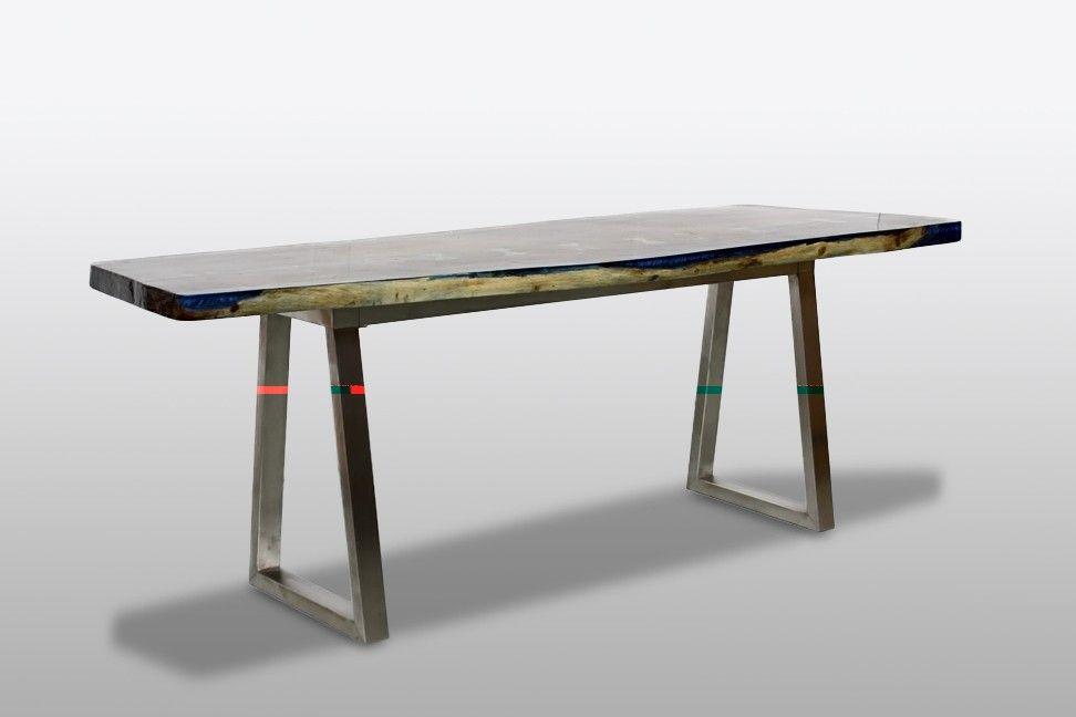 Bureau crystal unique bois suar acier rue de siam meubles