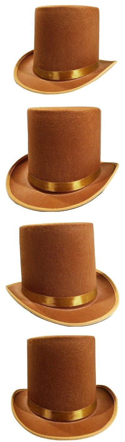 279db04ba3ce7 Hats and Headgear 155349  Tall Brown Willy Wonka Dickens Caroler Steampunk  Coachman Top Hat Topper Costume -  BUY IT NOW ONLY   10.19 on  eBay   headgear ...