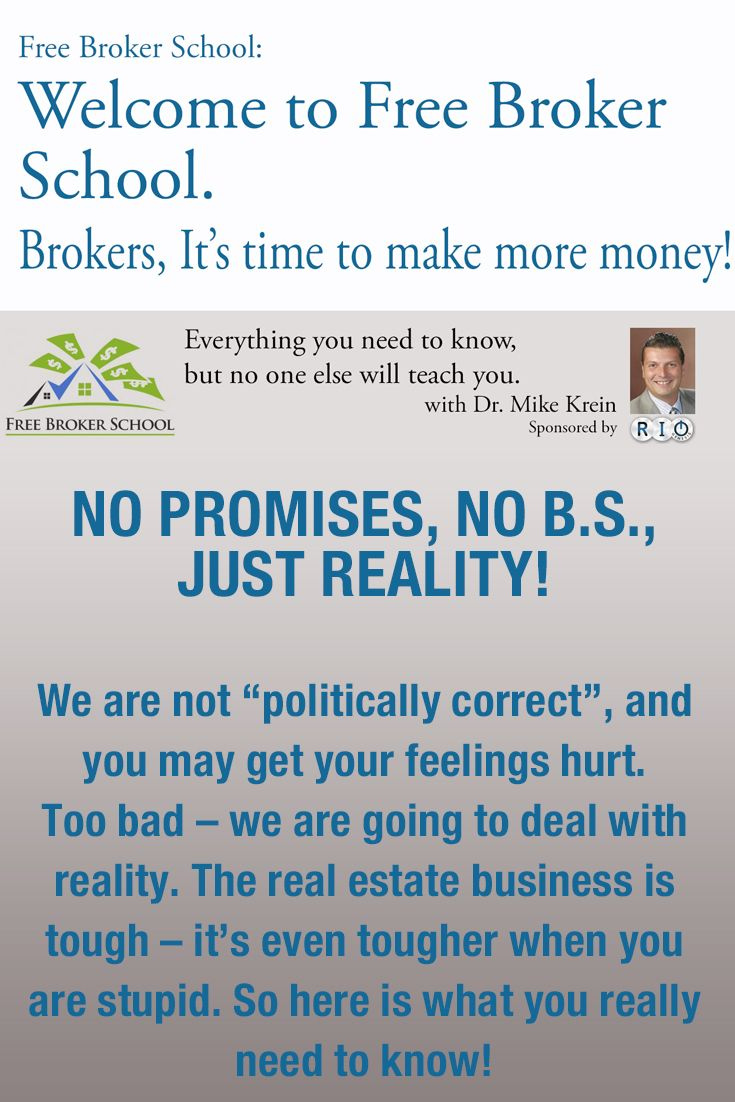 Free Broker School Will Give You The Real Estate Skills Necessary