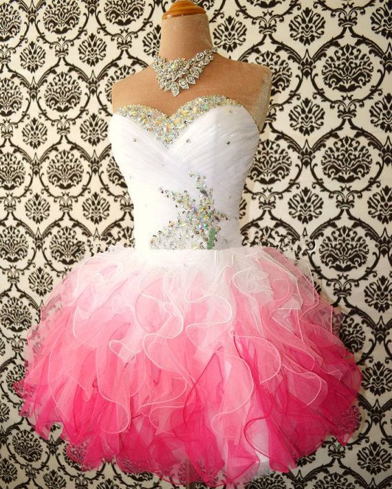 Sweetheart Multi-Color Short Mini Organza prom dress 68daec0d4