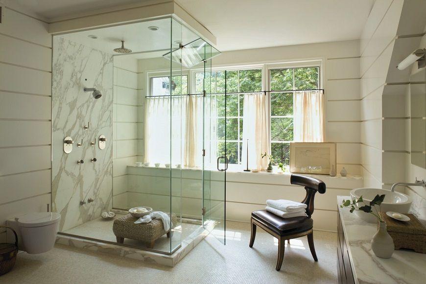 AD 100 List 2017: Bathroom Décor by Top Interior Designers