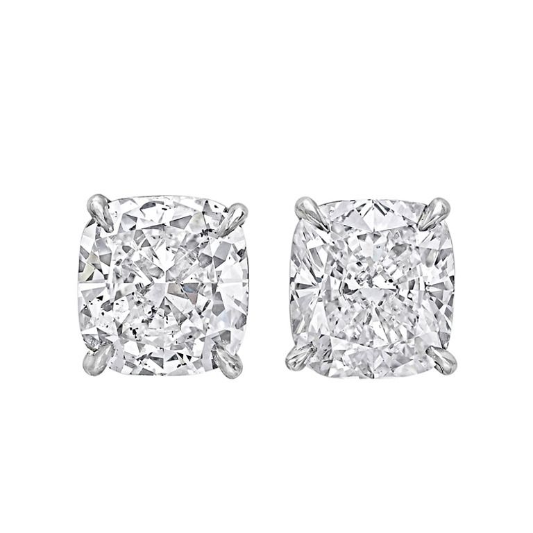 Cushion Cut Diamond Stud Earrings From A Unique Collection Of Vintage At Http 1stdibs Jewelry