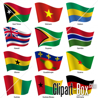Clipart Flags Waving 02 Royalty Free Vector Design Vector Design Vector Free Clip Art