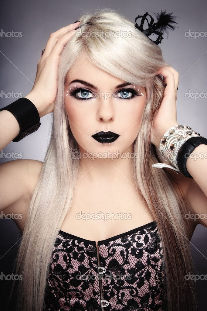 Blonde goth hair pinterest blonde goth blondes and hair and beauty - Maquillage simple enfant ...