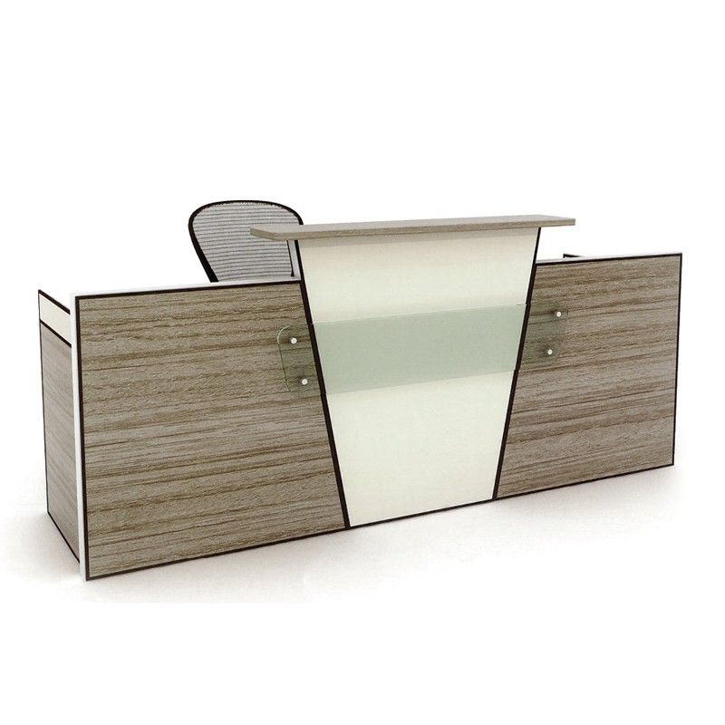 High end melamine reception table modern office counter for Simple office furniture design