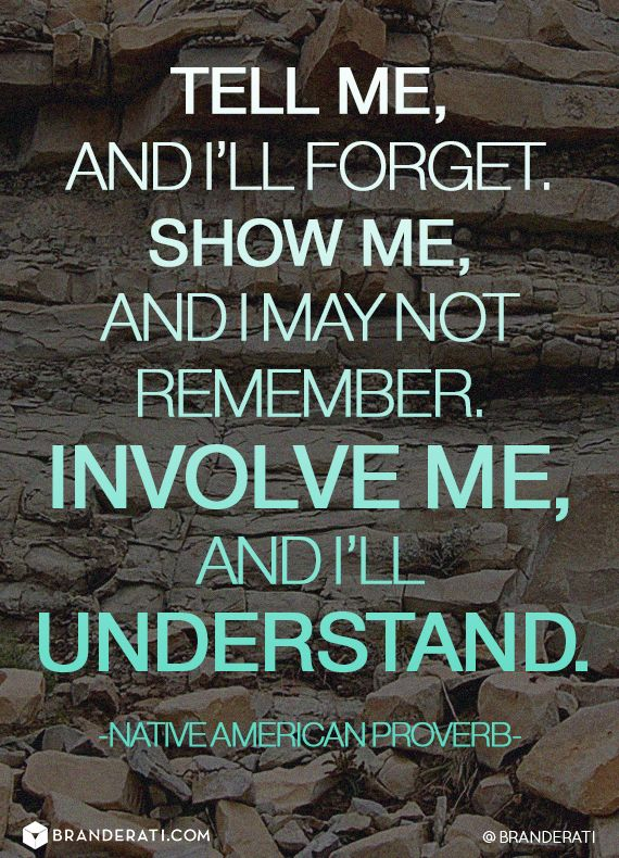 Tell Me And I Ll Forget Show Me And I May Not Remember Involve