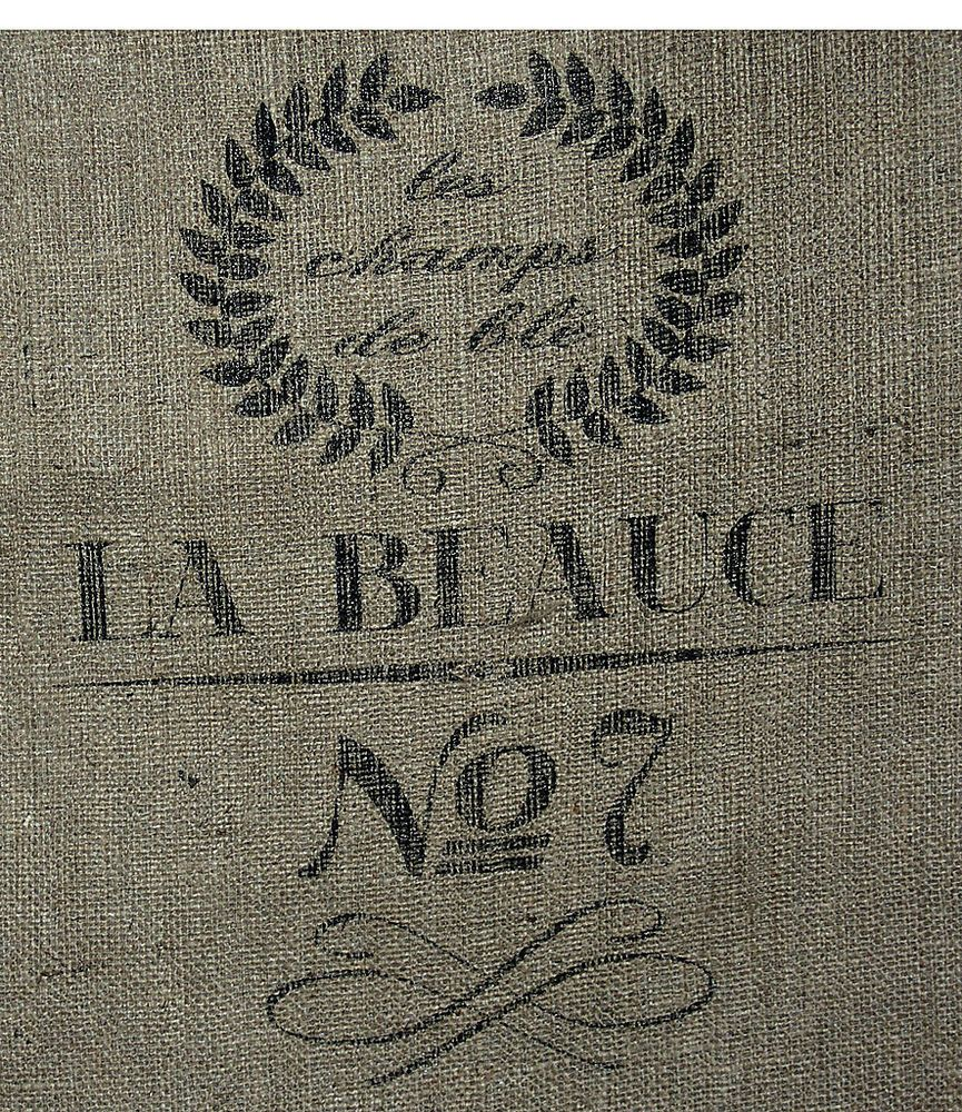 "18""x30"" French Grain Burlap Sack Repro  NEW 10 Oz Hydrocarbon Free Burlap Bag"