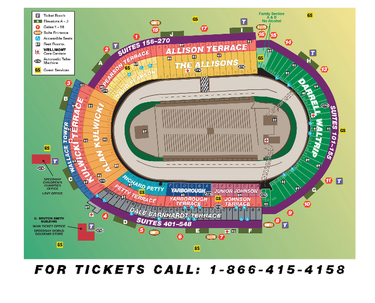 Seating chart track maps fan info bristol motor speedway