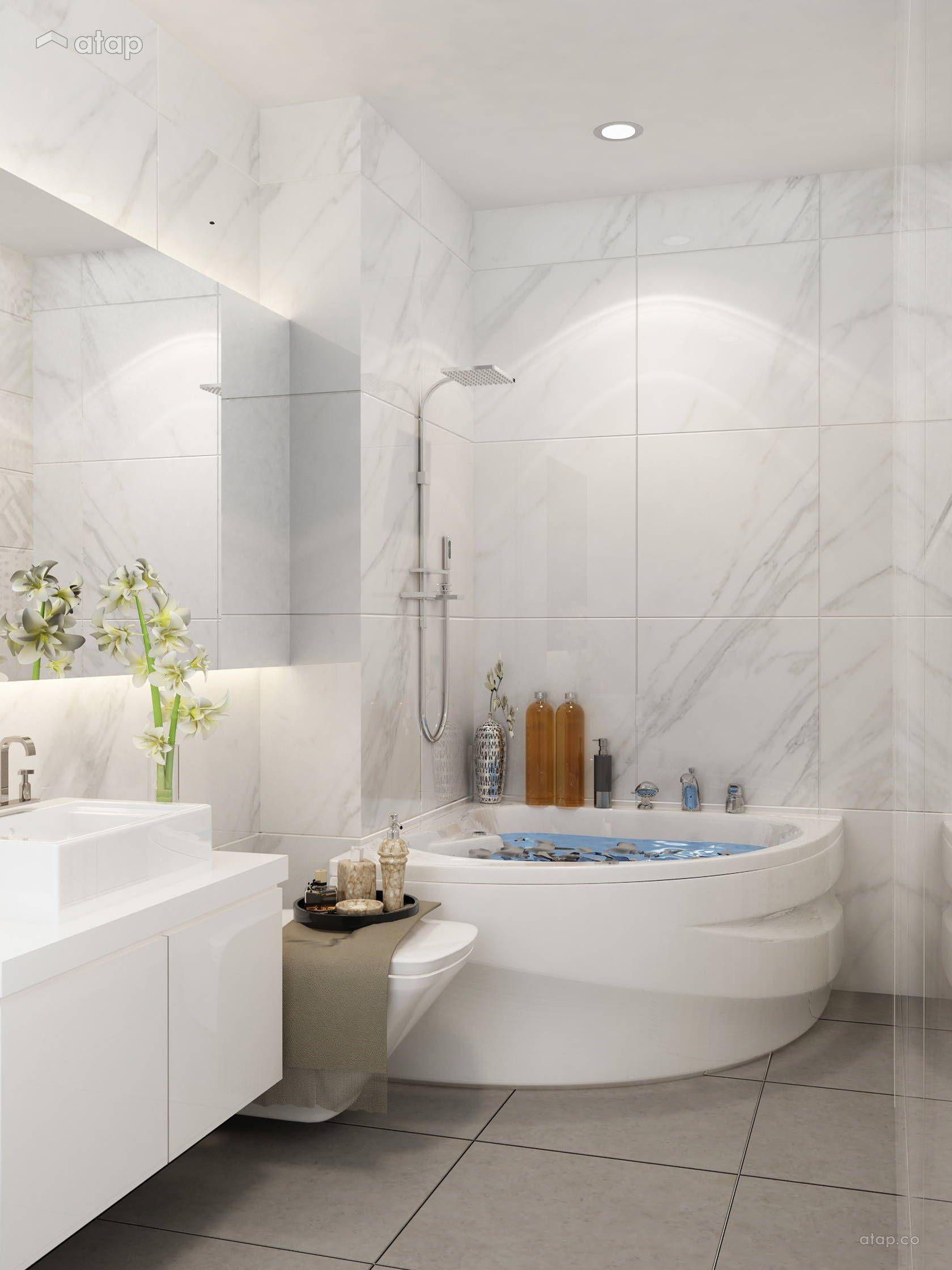 Modern Vintage Bathroom semi-detached design ideas & photos Malaysia ...