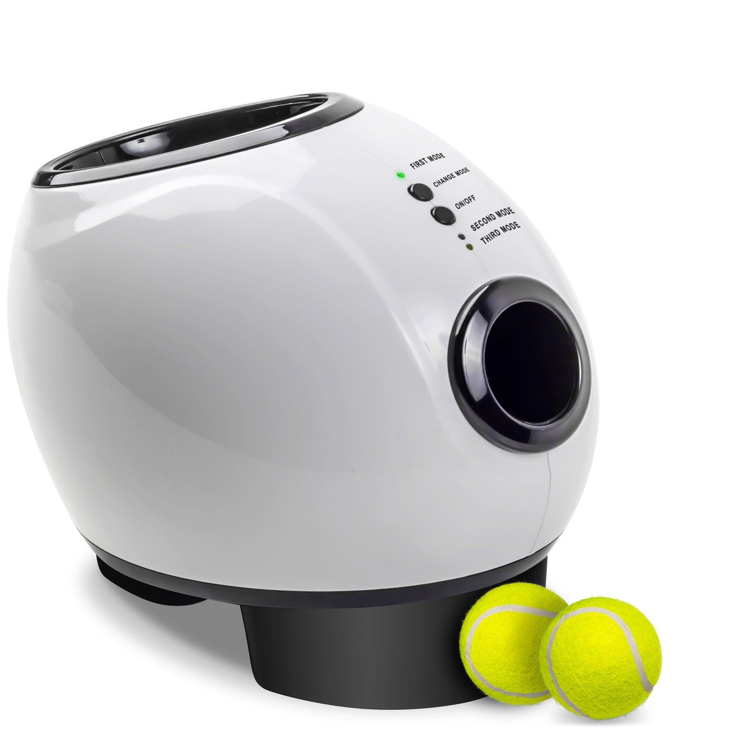 Paws And Pals Automatic Dog Ball Launcher Toy Interactive Throw And Fetch Mini Tennis Balls Machine With Treat Dispe Dog Ball Launcher Dog Ball Ball Launcher