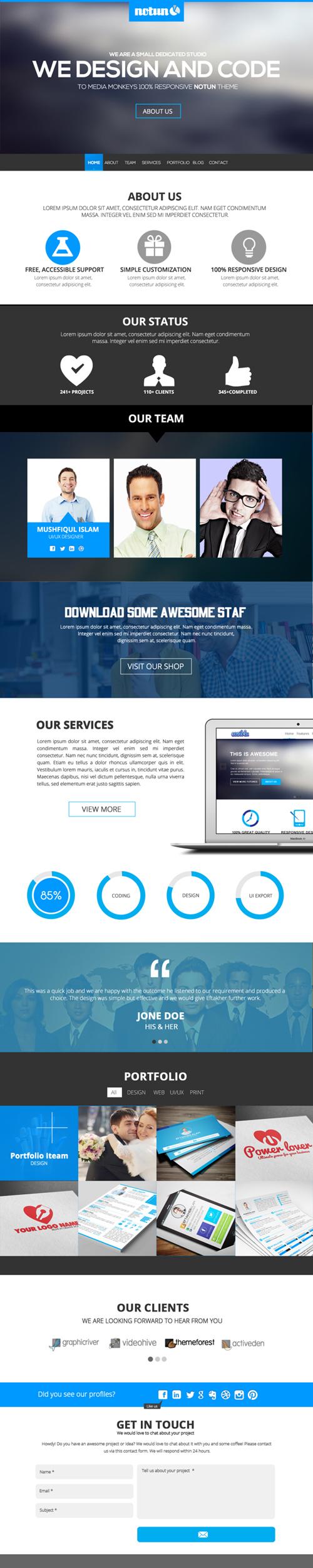 One Page Psd Web Template Free Download Freepsdfiles Photoshoppsd Uikits Psdtemplates Vectorgraphi Psd Templates Free Web Template Free Download Photoshop
