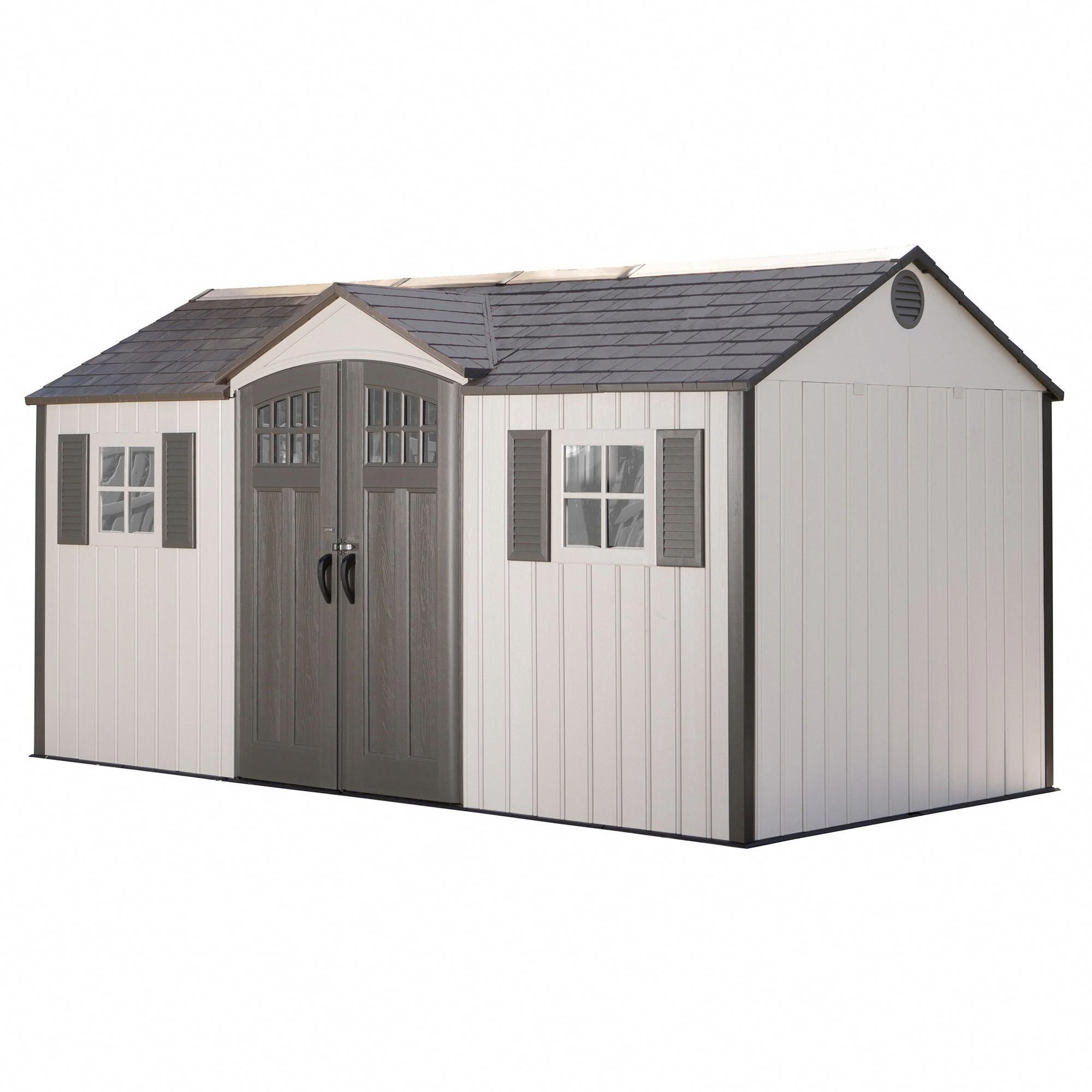 Storage Building Shed 15 X 8 Desert Sand Lifetime Gray Shedkits Wood Shed Plans Building A Shed Diy Shed Plans