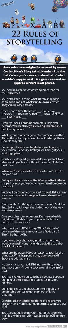 22 reglas del Storytelling