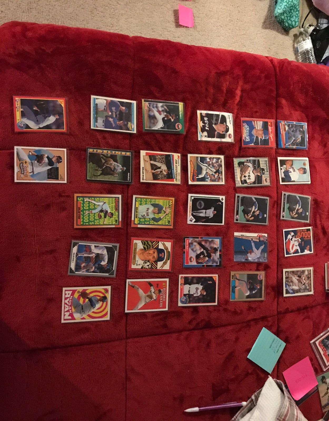 27 nolan ryan baseball cards all cards are in sleeves all