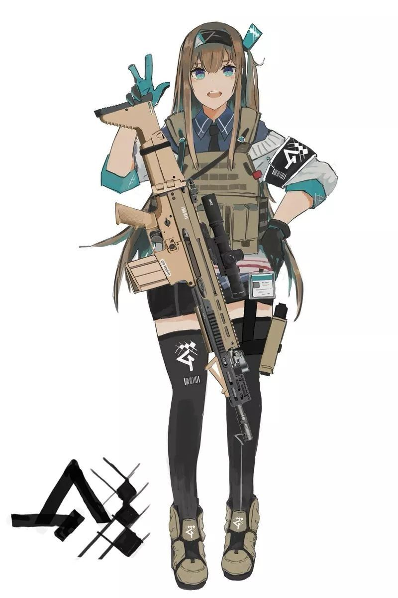 Pin On Tactical Anime Girls