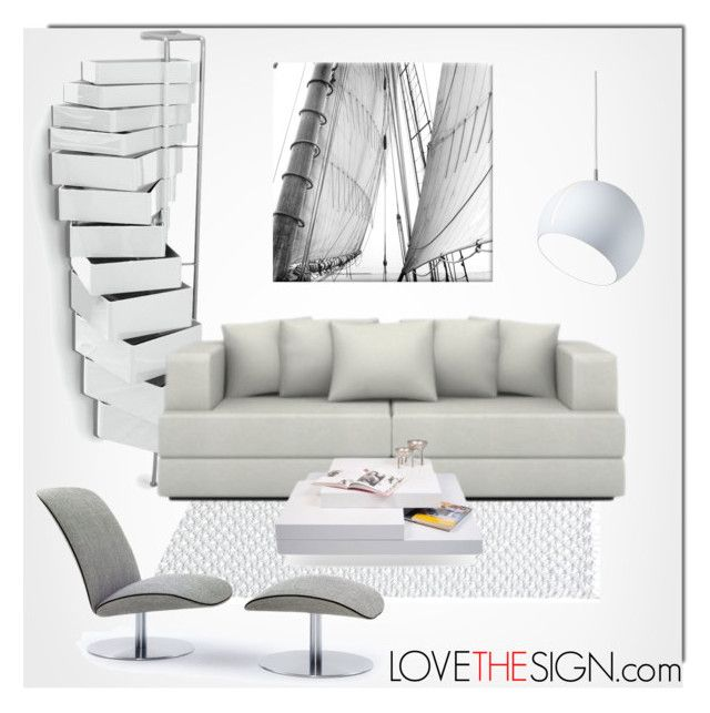 """LOVETHESIGN.com - Home Decor"" by monmondefou ❤ liked on Polyvore featuring interior, interiors, interior design, дом, home decor, interior decorating, B-Line, Nyta, Home и gray"