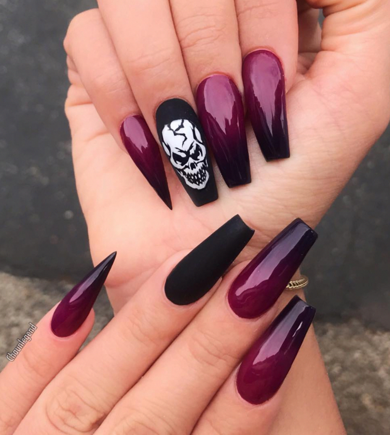 We All Need Love And A Perfect Manicure To Show This Ring Coffin Nails Designs Ombre Nail Designs Ombre Acrylic Nails