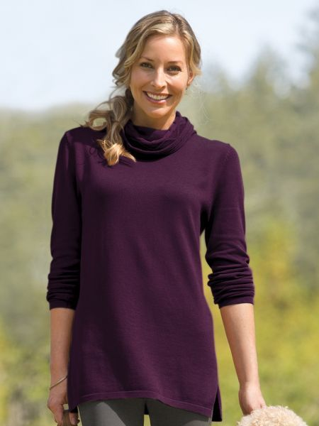 Want a sweater that covers your butt  Our Women s Cabled Cowl Tunic Sweater  is easy with leggings 76e289b79