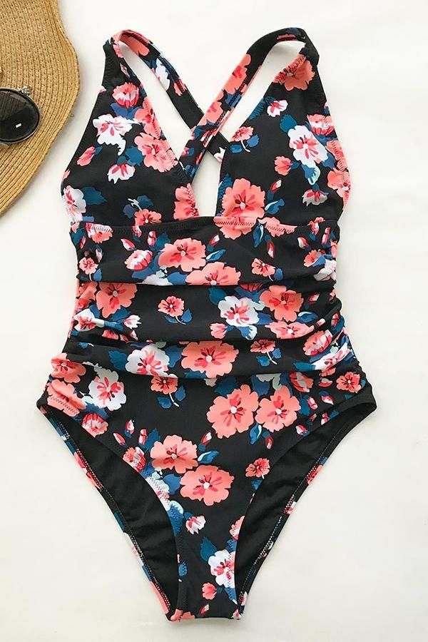 4afebc7c23 Flower Print One Piece Swimwear in 2019 | Ladies Wear | Swimsuits ...