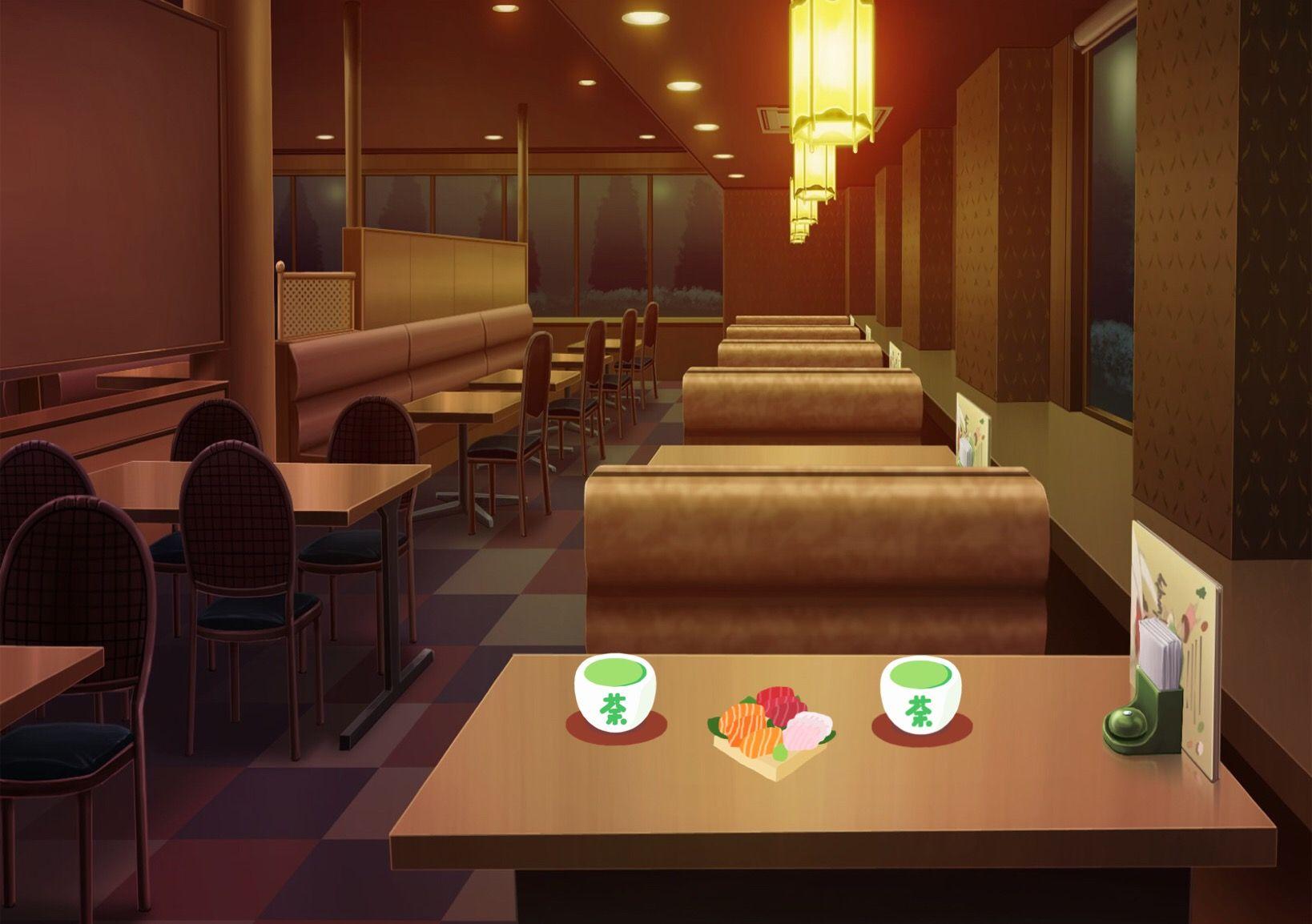 Restaurant Cenário anime, Fundo de animação, Fundo para